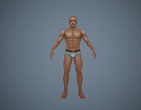 Male Nude Body Man 3D asset