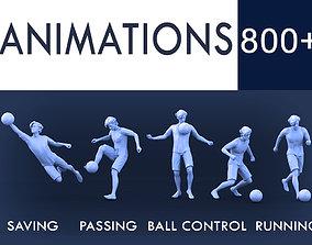 Soccer Animations 3D model