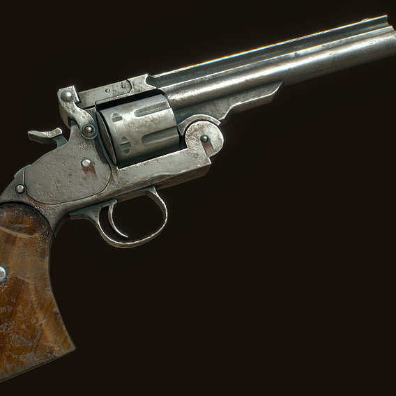 Revolver - free pbr lowpoly model
