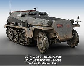 SD KFZ 253 - Beob Pz Wg - StuG Abt 191 3D