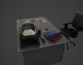 Police Desk Pack 3D model