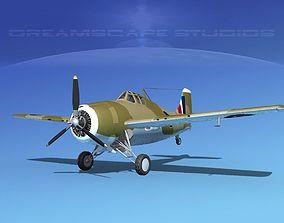 3D model Grumman F4F-3 Wildcat V12