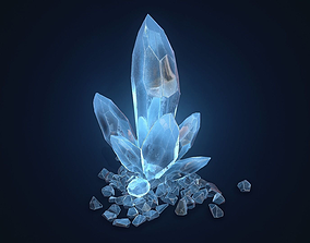3D asset Crystal Rock