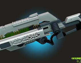 Railgun Rifle HighPoly 3DPrint