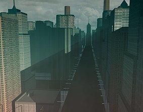 Cityscape street-light 3D model realtime