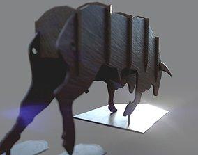 3D printable model storage Bull Figurine