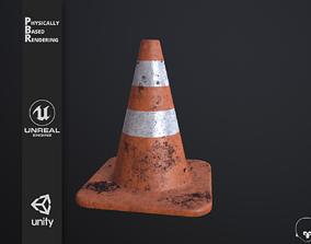 Traffic Cone high poly PBR 3D model