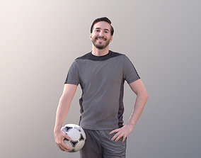 Anselmo 10230 - Atheltic Man Standing With Ball 3D asset