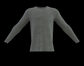 roundneck long sleeve t-shirt 3D model