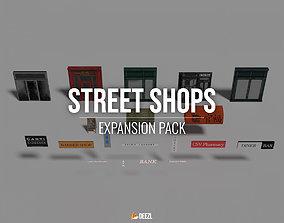 Street Shops - Expansion Pack 3D model