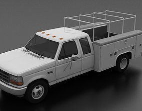 3D asset F-350 1992 DRW SuperCab Service Utility Truck