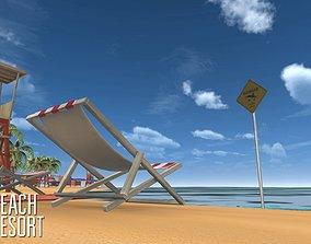 Beach - resort 3D asset realtime
