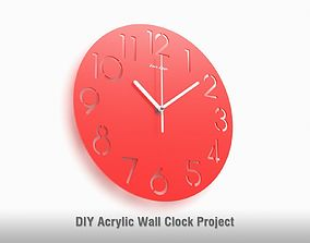 Wall Clock - Arabic and Roman numerals 3D model | CGTrader