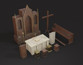 Old Church Props 3D model