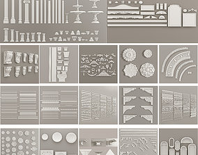3D Decorative ceiling corbels scrolls tile classic 2