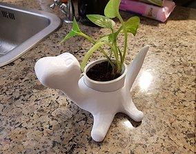 3D model Dinosaur plant pot