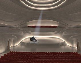 Concert Hall Interior 3D model
