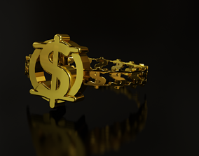 Dollar Sign Ring 3D print model