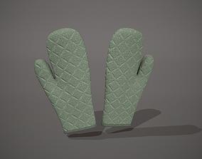3D model Green Oven Glove