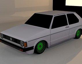 3D asset antique car