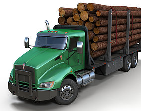 3D Kenworth t440 log truck