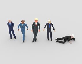 3D asset LowPoly Politicians 01