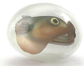 3D model Fish larva