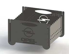 Grill with Opel logo 300x300 for laser cut 3D print model