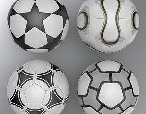 Soccer Balls Collection 3D
