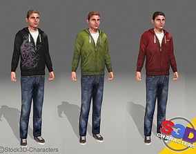 Michael-teen Animated 3D model