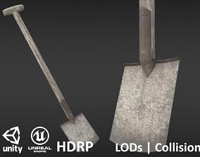 Game-ready Old Shovel - Unity - HDRP - UE4 3D model