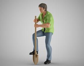 Man Digging the Soil 3D print model