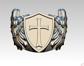 3D printable model Knight Templar Ring Masonic College 1