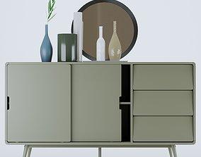 Aubum buffet retro gris 3D model