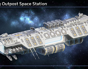 Trading Outpost Space Station 3D asset