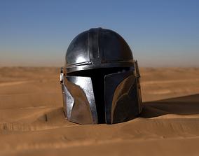 3D printable model mandalorian helmet