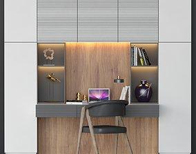 velvet work place 003 3D model