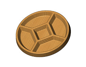 3D printable model Round serving tray relief