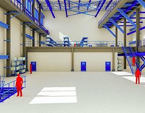 3D asset Retro Factory Interior