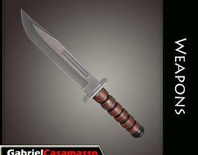 kill 3D model realtime Combat Knife