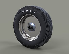 Wheel from old school Formula One 3D