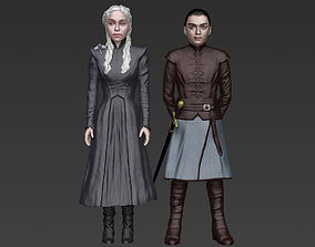 Game of Thrones pack Daenerys Arya full color 3D