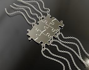 Puzzle pendants six friends C0-3000083 3D print model