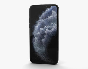 smartphone Apple iPhone 11 Pro Space Gray 3D model