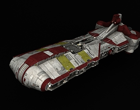 3D Star Wars Grand Army of the Republic Pelta-class