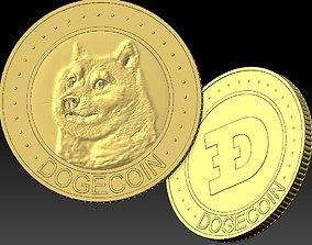 DOGECOIN badges 3D printable model