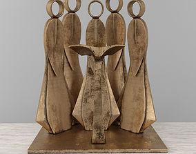 3D print model Jean-Pierre Augier metal sculpture