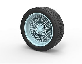 3D print model Diecast wire wheel Scale 1 to 10