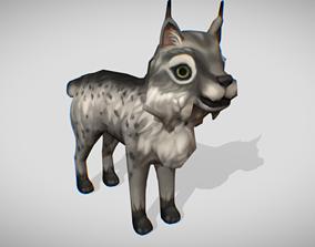 Lynx game-ready 3D asset