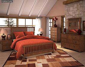 3D model Ashley Colter Panel Bedroom Set